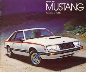 Publicité pour une Ford Mustang troisième génération